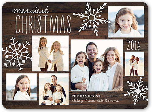 Very Merry Snowflakes Christmas Card