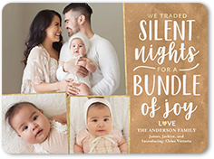 birth announcement from 127 064 silent bundle of joy christmas card