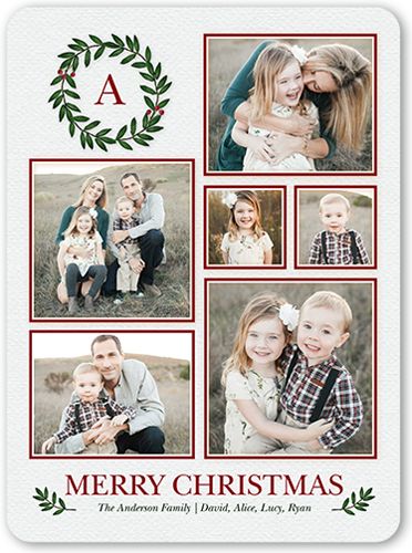 Gallery Monogram Wreath Christmas Card