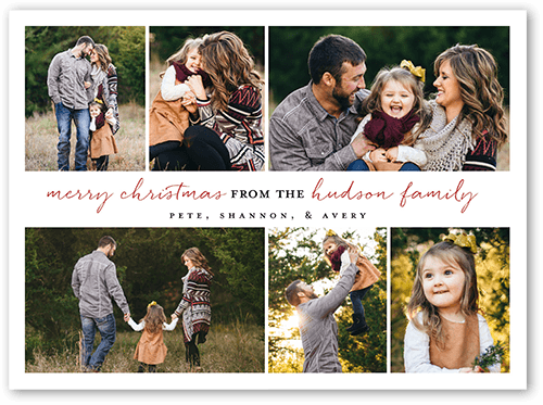 Shutterfly Christmas Cards.Signature Gallery 6x8 Stationery Card By Yours Truly Shutterfly