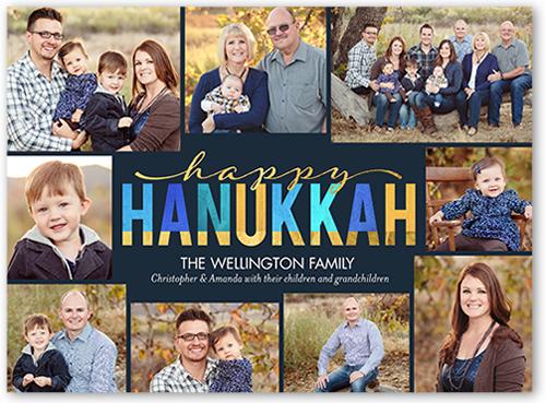 Cheerful Hanukkah Spirits Hanukkah Card