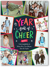 whimsy cheer new years card