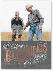 fanciful blessings religious christmas card