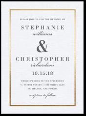 simple solid frame wedding invitation 6x8 flat