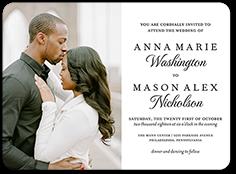 basic union wedding invitation 6x8 flat
