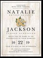 verdant union wedding invitation
