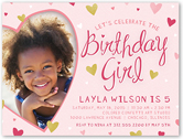 sweetheart frame birthday invitation 4x5 flat