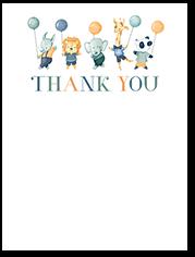 balloon animals thank you card