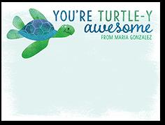 thankful turtle thank you card
