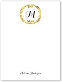 gold leaf wreath thank you card 4x5 flat