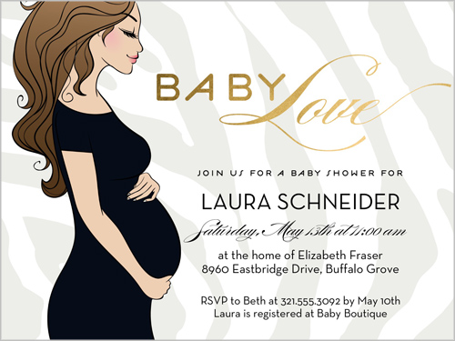 Baby Love 4x5 Greeting Card Baby Shower Invitations Shutterfly