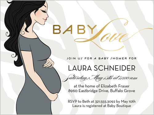 baby love x greeting card  baby shower invitations  shutterfly, Baby shower