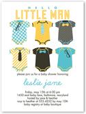 hello little man baby shower invitation 4x5 flat