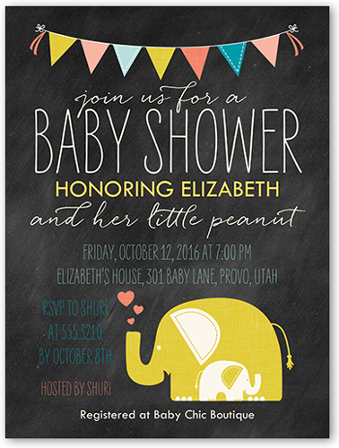 Little Peanut 4x5 Gender Neutral Baby Shower Invitations Shutterfly