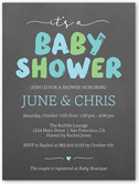 brushed letters boy baby shower invitation 4x5 flat
