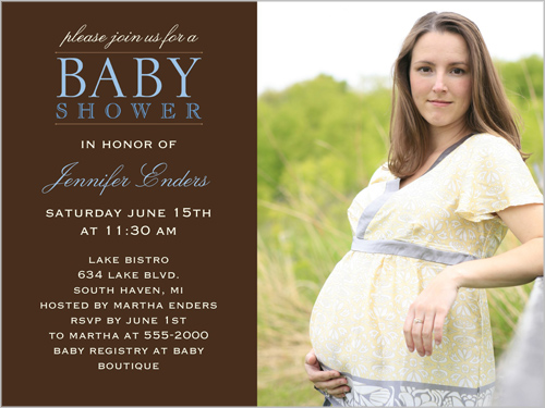 Shower Love Blue Baby Shower Invitation