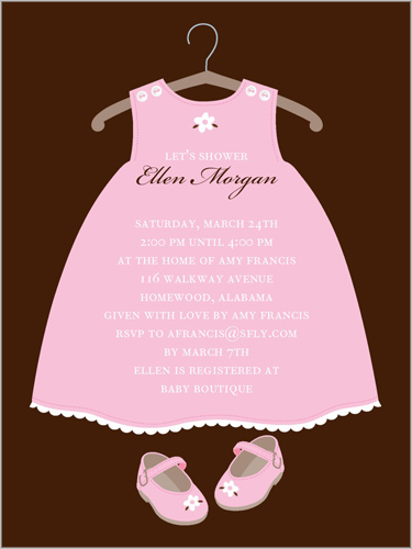Twinkle toes custom baby shower invitations shutterfly baby shower invitation visible part transiotion part front filmwisefo