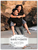 just beachy save the date 4x5 flat