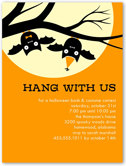 hang with us halloween invitation 4x5 flat