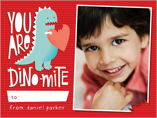 You Are Dinomite Valentine's Card, Square