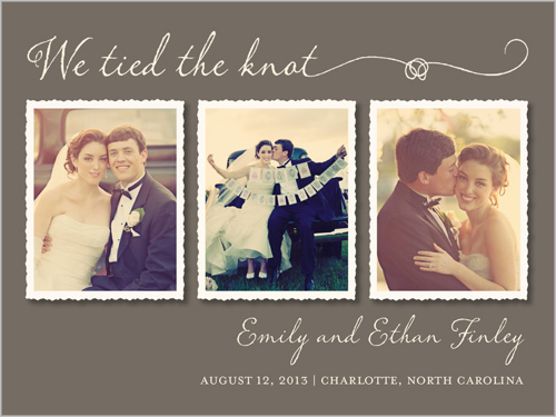 Love Frames Wedding Announcement
