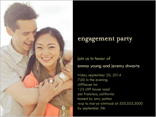 Engagement Vignette Engagement Party Invitation