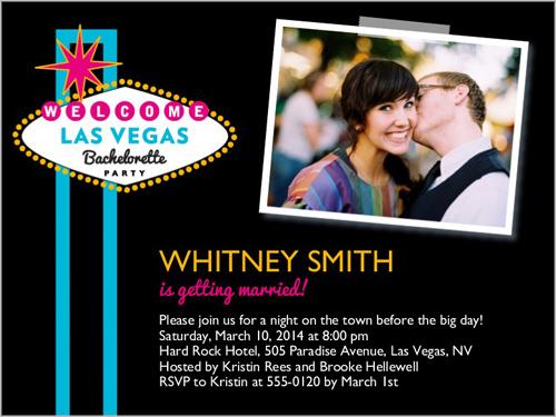 Welcome To Vegas 4x5 Card – Las Vegas Bachelorette Party Invitations