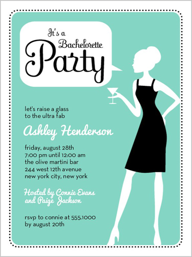 Cocktail party dress code wording on invitation