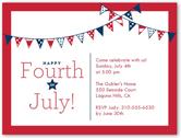 star stripe banners summer invitation 4x5 flat