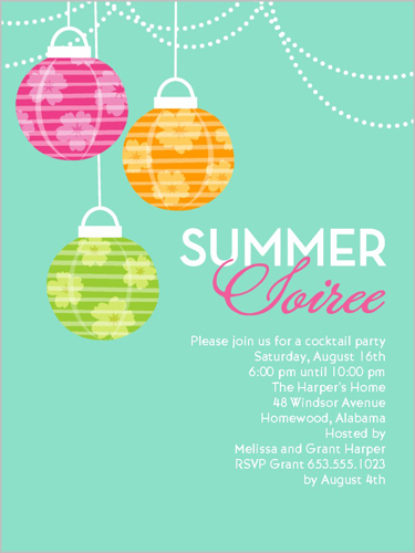 Summer Soiree Summer Invitation