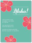 aloha flowers summer invitation 4x5 flat