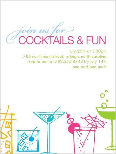 Time For Cocktails Summer Invitation