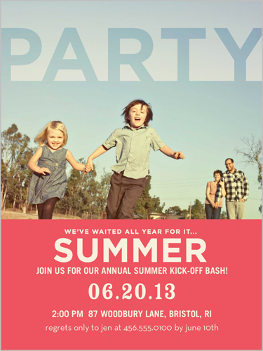Sophisticated Soiree Summer Invitation, Square