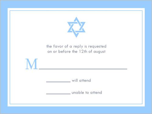Bar Mitzvah Star Bar Mitzvah Response Card, Square