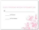 bat mitzvah blooms bat mitzvah response card 4x5 flat