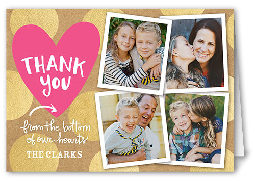 Bottom Of Our Hearts Thank You Card