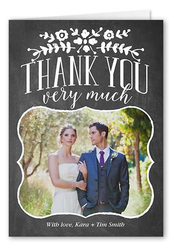 Bracket Border Thanks Thank You Card