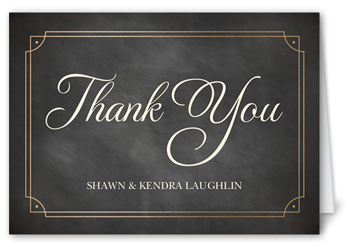 Classic Chalk Frame Thank You Card