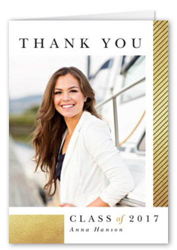 Classy Color Grid Thank You Card