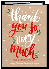 Christmas Thank You Cards.Christmas Thank You Cards Shutterfly