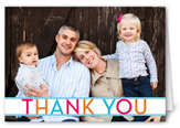colorful banner thank you card 3x5 folded