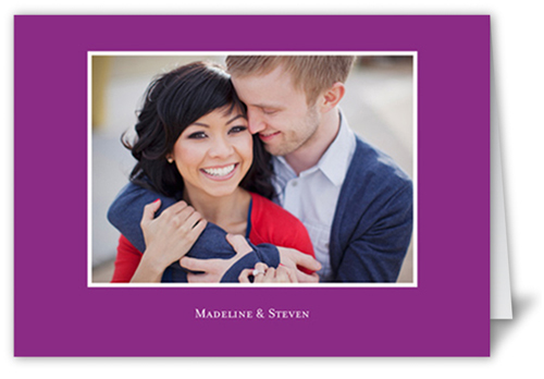 Classic Purple 5x7 Folded Card, Square Corners