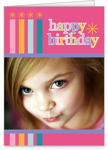 Birthday Candles Pink Birthday Card by Erin Condren