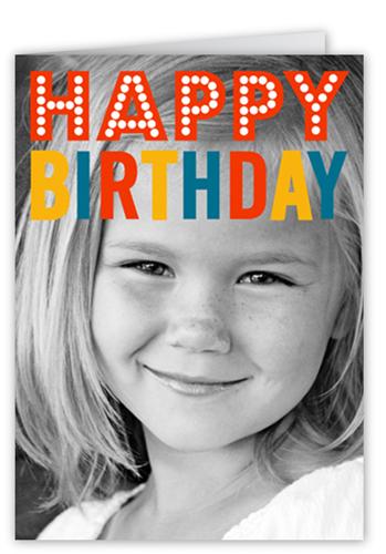 Birthday In Lights Birthday Card