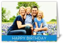 birthday banner blue birthday card