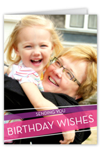 wrapped wishes pink birthday card