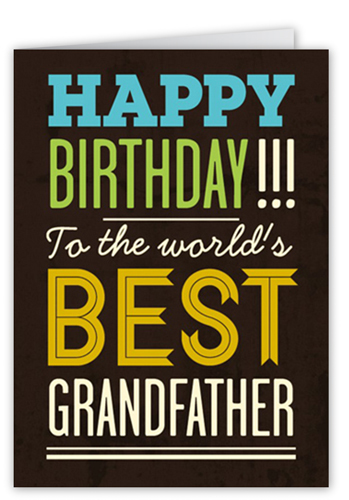 Best grandpa 5x7 greeting card birthday cards shutterfly bookmarktalkfo Gallery