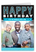 the best dad birthday card