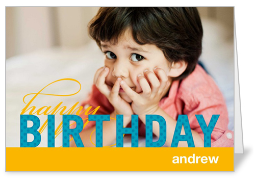 Modern Celebration Boy Birthday Card, Square Corners