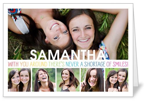 Smile Surplus Birthday Card, Square Corners